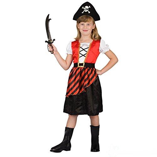 (Morph Girls Pirate Costume, Red,)