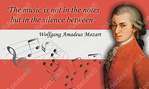 Wolfgang Amadeus Mozart Computer Tablet Decal Sticker 3x5 inches
