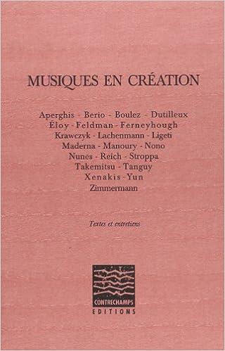 En ligne téléchargement gratuit Musiques en création pdf