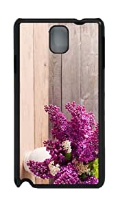 covers free shipping vase lilac flowers PC Black case/cover for Samsung Galaxy Note 3 N9000
