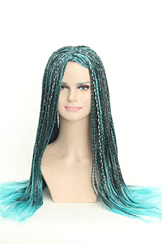 Weave Wigs - Inspired by Uma of Decendants Blue Black Braids Ombre Cosplay Dreadlock Wig for -