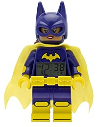 LEGO Batman Movie Batgirl Kids Minifigure Alarm Clock  | purple/yellow | plastic | 9.5 inches tall | LCD display | boy girl | official