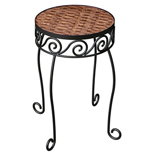 Resin Woven Plant Stand Espresso product image