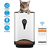 UUNITONA Automatic Pet Feeder WiFi Smart Cat Food Dispenser with HD Camera - 4.5L APP Control Timer Programmable Pet Feeder Perfect for Small or Medium Dog and Cat