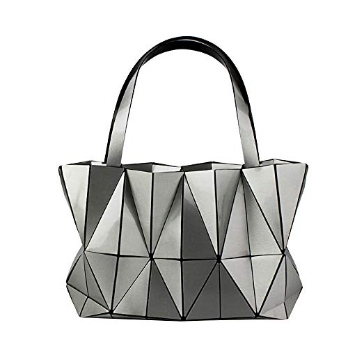 Handbags Hand Handbags New And Leather Ladies Silvergray Autumn Bag Winter Fashion Geometric One Female Bag Shoulder Fashion Portable xIwYWSqv4
