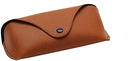 Faux Leather Eyeglasses Case (Brown)