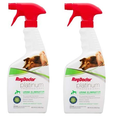 Rug Doctor Platinum Urine Eliminator Spray, Permanently Removes New and Old Pet Stains, Neutralizes Odors with Sparkling Breeze Scent, 24 oz. (2)