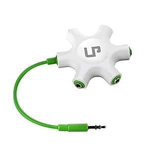LP Headphone Splitter,3.5mm Headphone Earphone Audio Splitter 1 Male to 2 3 4 5 Female Cable (Green)
