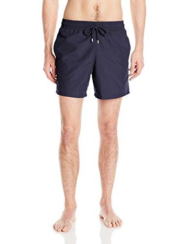 VILEBREQUIN Men's Moorea Solid Swim Trunk, Navy, Medium