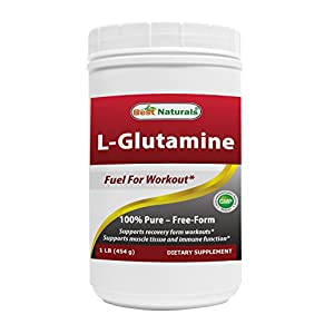 Best Naturals L Glutamine Powder 1 Lb 100% Pure Free Form