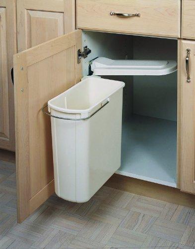 - Rev-A-Shelf 8-700411-20 20 Liter Sink Base Container - Polymer-White