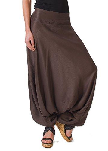 Coton Du Monde-Sarouel FANY, color marrón marrón