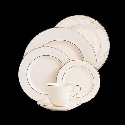 Lenox Sand Dune Platinum Ivory China Butter Plate - Lenox Sand
