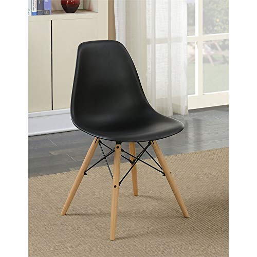 Furniture of America Ashton Mid-Century Side Chair (Set of 2) in Black ()