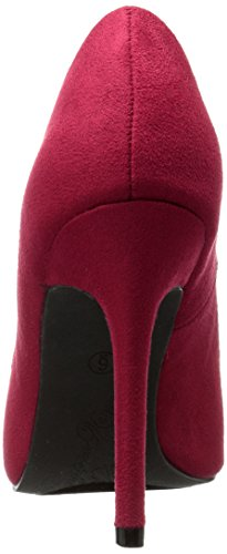 Penny Loves Kenny Women's Manner Pump, Red Red Micro Suede