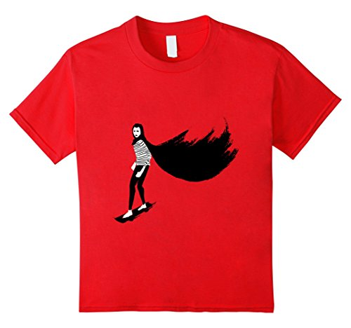 unisex-child A girl walks home alone at night 4 Red
