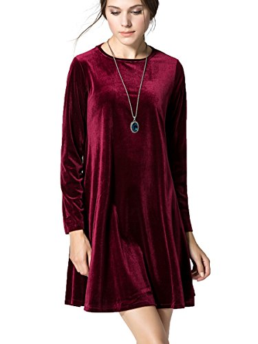 Womens Velvet Sleeve Flare Loose