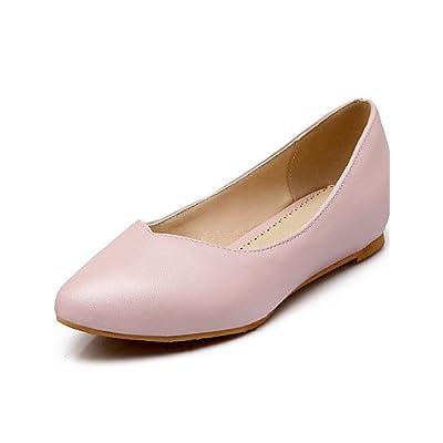 shangyi Chaussures Femme–Ballerines–Lässig–en cuir synthétique–talon plat–Chaussures à bout pointu–