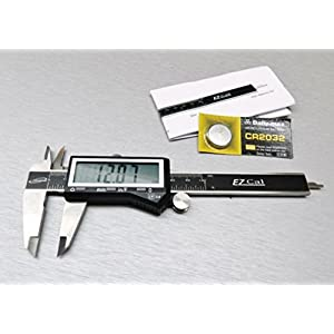 """4"""" DIGITAL ELECTRONIC CALIPER 3 WAY READING INCH FRACTIONAL LARGE LCD STAINLESS"""