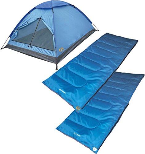 Alpinizmo High Peak USA 2 Ceduna 20 Sleeping Bags & 1 Monodome 3 Tent Combo Set, Blue, Regular Review