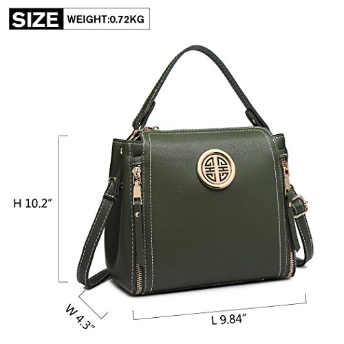 Women Ladies Classic Shoulder Miss Body Handbag Lulu Green Bag Purse Bag Handle Top Pu Brand Stylish Small Leather Cross Bag qxAwxfaS