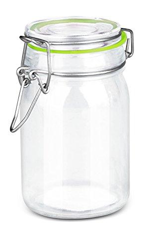 Home Basics Mini Mason Jar Glass Canister (Green)