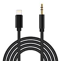 Lightning to 3.5mm Male Aux Stereo Audio Cable, Jackiey Car Aux Cable for iPhone X/8/7/7 Plus Premium Headphone Adapter to Car Stereo Compatible iOS 10.3 by Jackiey