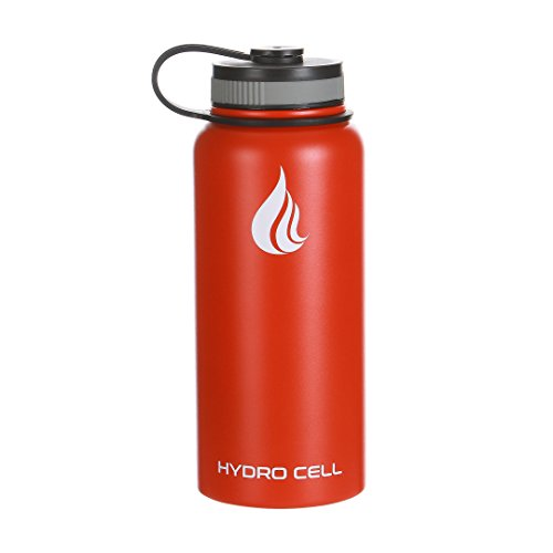 Hydro Cell Steel Stainless Steel Water Bottle (32 oz.) – Double Walled, Vacuum Sealed Insulated Water Bottle – Leak and Sweat Proof Drinkware with Wide Mouth for Hot and Cold Beverages