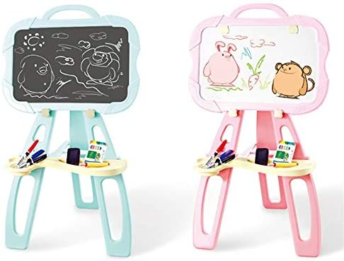 子どもの描画ボード キッズカラフルな学習のおもちゃのための落書きスケッチライティングボード製図板のおもちゃ 磁気子供用ライティングボード (色 : Pink, Size : 50x40cm)