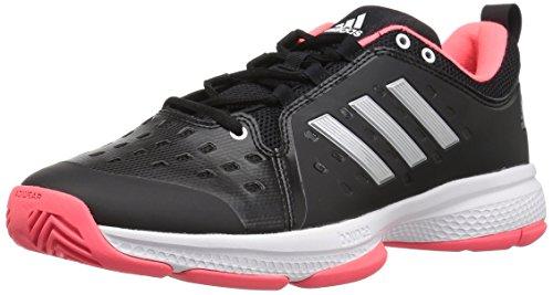 - adidas Men's Barricade Classic Bounce Tennis Shoe, Black/Matte Silver/Flash Red, 8 M US