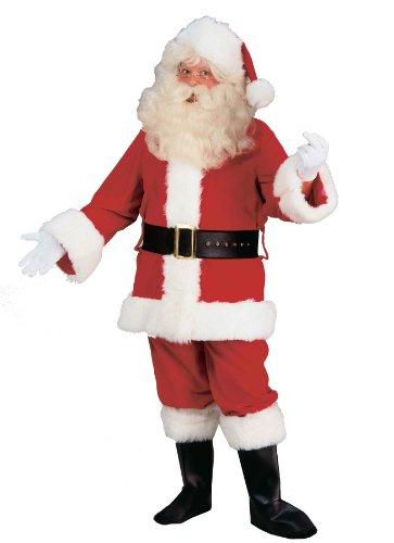 Forum Velvet Santa Suit Xl, White/Red, X-Large Costume (Santa Claus Suits Sale)
