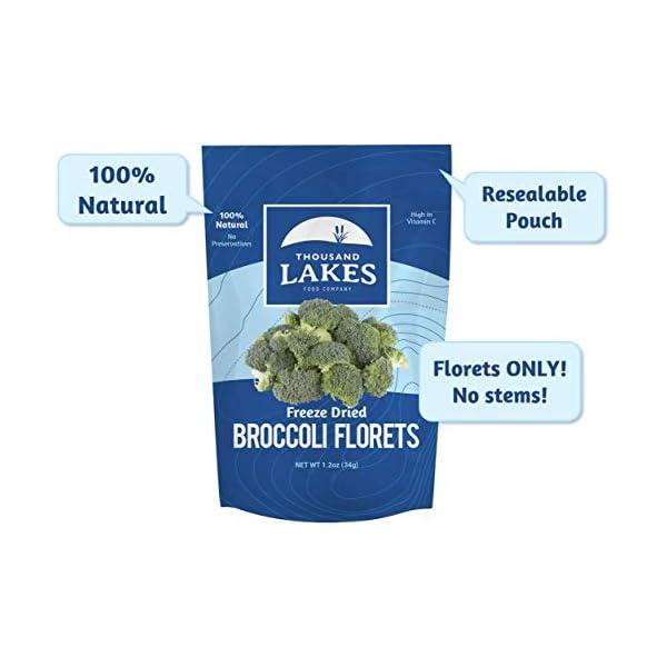 dried broccoli florets