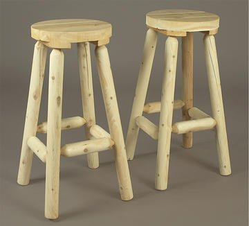 Backless Barstools in. in Light Cedar (30 in.)