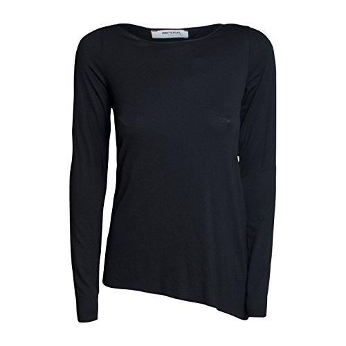 Damen Langarmshirt 8M3YSIS von Imperial Farbe Schwarz Longsleeve Basic Casual Freizeit Leicht Rundhalsausschnitt cSicBAUXB
