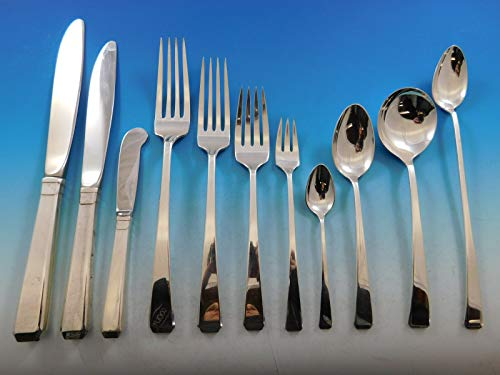 - Craftsman by Towle Sterling Silver Flatware Set for 12 Service 148 pieces Dinner