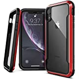 """X-Doria Defense Shield Series, iPhone XR Case - Military Grade Drop Tested, Anodized Aluminum, TPU, and Polycarbonate Protective Case for Apple iPhone XR, 6.1"""" inch LCD Screen (Red)"""