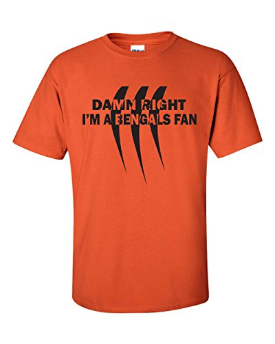 Jacted Up Tees Damn Right I'm a Bengals Fan Men's T-Shirt SHIPS FROM OHIO USA