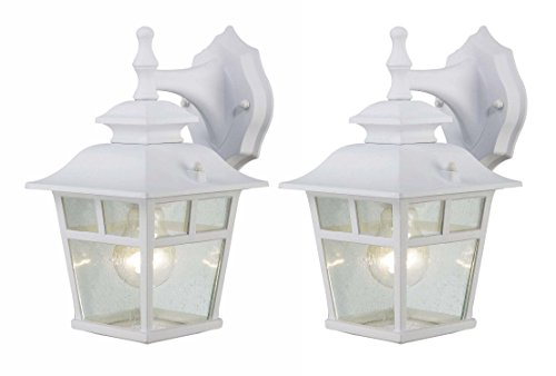Canarm IOL183TWH-C Fieldhouse Outdoor Lantern Twin Pack, White