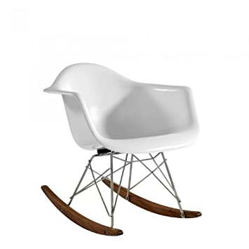 charles eames style children s rar rocking chair fibreglass
