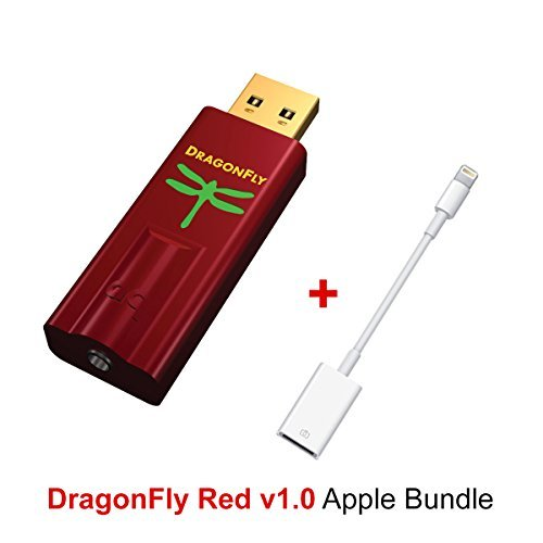 Apple Bundle for AudioQuest DragonFly Red USB DAC, Preamp, Headphone Amp and Apple Lightning to USB Camera Adapter by Audioquest