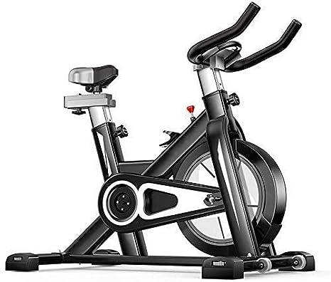 Spinning Bike - Manillar ajustable con pedal antideslizante, Smart App lee calorías de velocidad, tiempo, etc., bicicleta de spinning electromagnética para el hogar, máxima capacidad de carga, negro