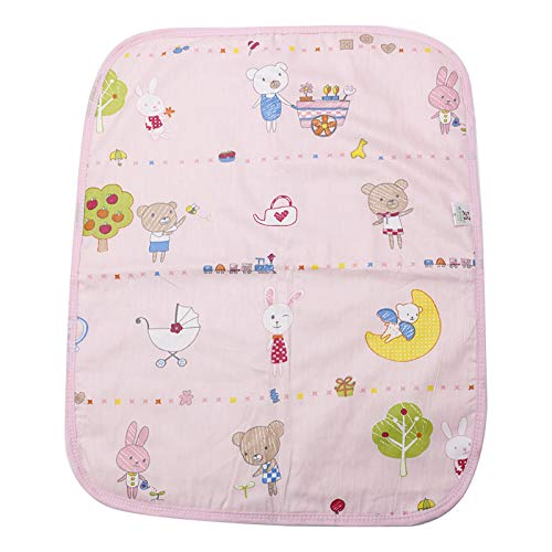 zobeen Baby Infant Diaper Nappy Urine Mat Kid Waterproof Bedding Changing Cover Pad (Pink)