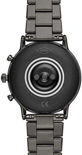 Fossil Gen 5 Carlyle Reloj inteligente con pantalla táctil de acero inoxidable con altavoz, frecuencia cardíaca, GPS, NFC y notificaciones de smartphone 6