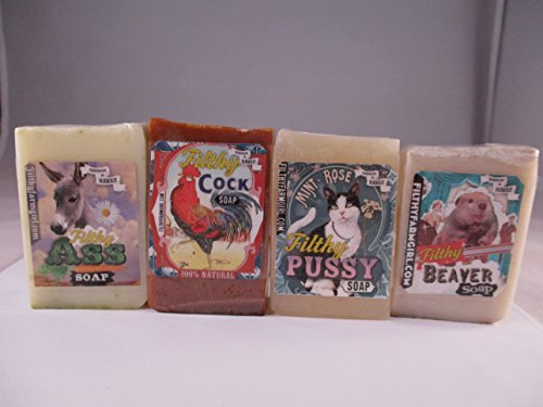 novelty-gift-soap-filthy-pussy-filthy-cock-filthy-ass-and-filthy-beaver-variety-pack-of-4