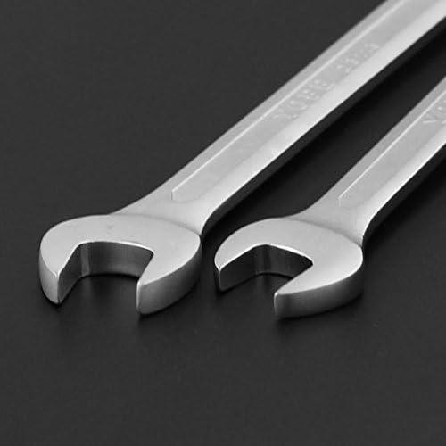 柔軟な6mm〜32mmのダブルヘッドスパナコンビネーションレンチセットのキースケートツールギアリングレンチ修理ツール-シルバー-17mm