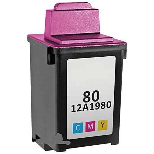 - Bulk 12A1980, 80 Lexmark Compatible Inkjet Cartridge, Multi Color R12A1980 (4 Inkjet Cartridges)