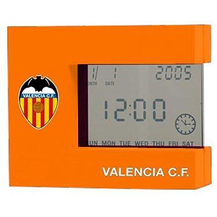 Valencia Calendar.Football Official Products Orange Digital Alarm Clock With Calendar