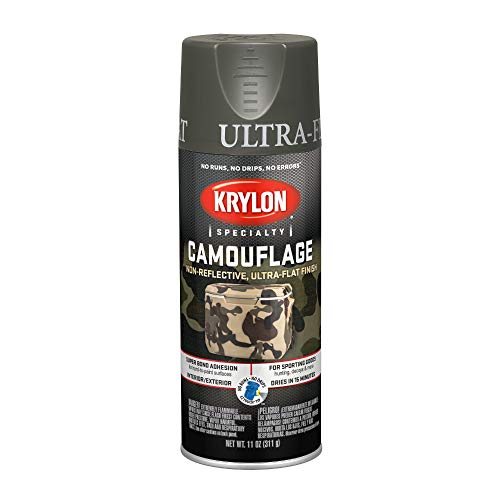 Krylon K04293007 Camouflage With Fusion For Plastic Paint Technology Aerosol Spray Paint, 11-Ounce, Camouflage Olive