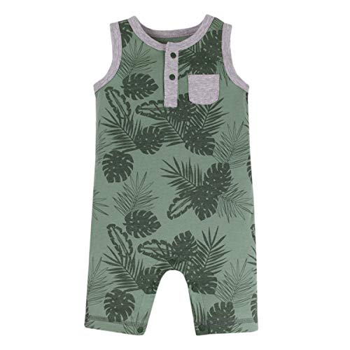 - LAMAZE Organic Baby Girl, Boy, Unisex Rompers, One Piece Coverall, Green, NB