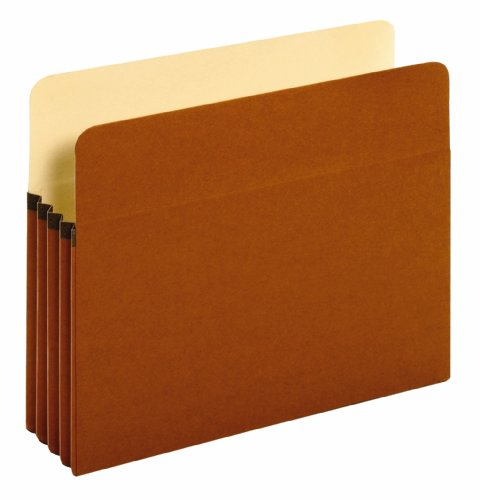 [Globe-Weis Redrope Expanding File Pockets, 3.5 Inch Expansion, Letter Size, 25-Count (1524E)] (Expansion File Cabinet Pocket)